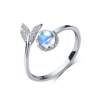 925 Sterling Silver Fashion Wedding Jewelry Adjustable Open Crystal Mermaid Ring for Women Ladies Finger Ring jz459