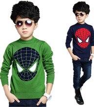 Jd94 дети осень хеджирования шею свитер мальчик большой девственный человек паук детей