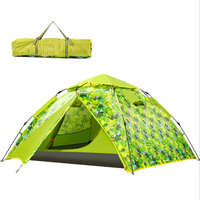 200*230*135cm Large Camping Tents 3 4 Person one Bedrooms Climbing Hiking Windproof Waterproof Double Layer Automatic Tent