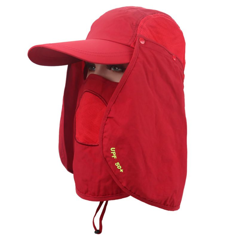 360 degree Assembled Dry-Fast Neck Cover Boonie Fish Camping Hunting Snap Hat Ear Sun Flap Brim Cap Sport New