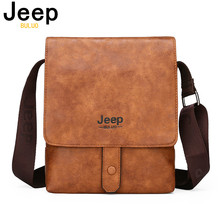 JEEP BULUO Mens Messenger Bag Luxury Brands Men Leather Shoulder Crossbody Bags For iPad Business office Work Tote New Fashion