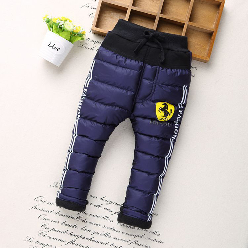2017 New winter Children Cartoon Boy Pants printing kids Thickened cotton warm Trousers clothes Baby Boys pants 6 style 2-6y