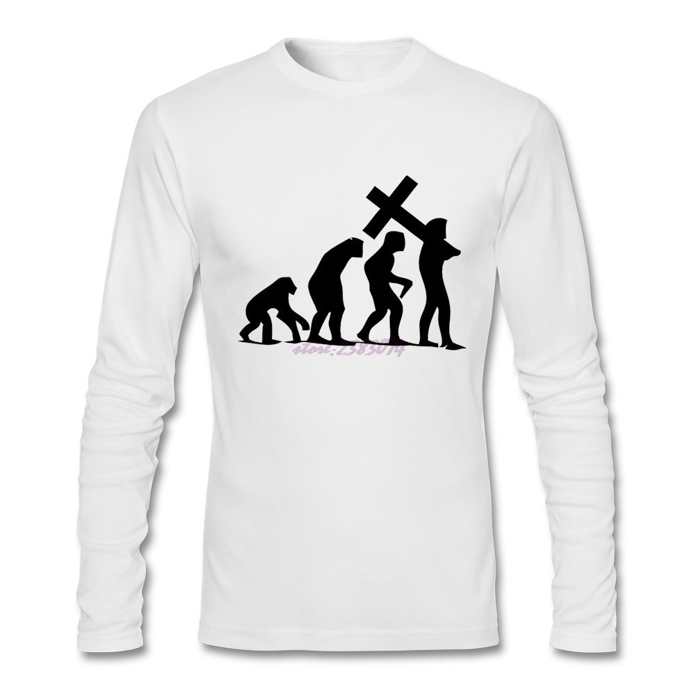 Design your own t shirt las vegas - Adult Full Sleeve Create Your Own Shirt Design Cotton Mens Evolution Into Religion And Christianity