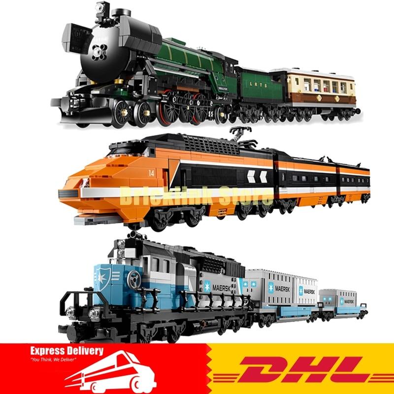 LEPIN 21005 Emerald Night+ 21006 Maersk Train+ 21007 The Sky Train Building Blocks Bricks Model Toys 10194 10219 10233