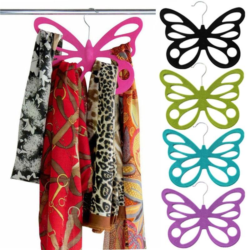 Nieuwe Mode Schoonheid Multi Color Vlinder Sjaal Houder Hanger Haak