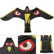 Outdoor Garden Pest Control Black Bird Repeller Flying Hawk Kite Scarecrow Decoration Repellents