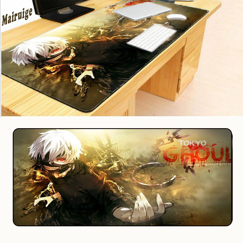 MairuigeTokyo Ghoul 80x30 Pad To Mouse Best Seller Computer Mouse Pad Adorable Gaming Padmouse Gamer To Laptop Large Mouse Mats