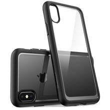 جراب لهاتف iPhone X Xs مقاس 5.8 بوصة سلسلة i Blason هالو مقاوم للخدوش ومقاوم للخدوش غطاء ظهر مموه شفاف + غطاء ممتص للصدمات من البولي يوريثان الحراري