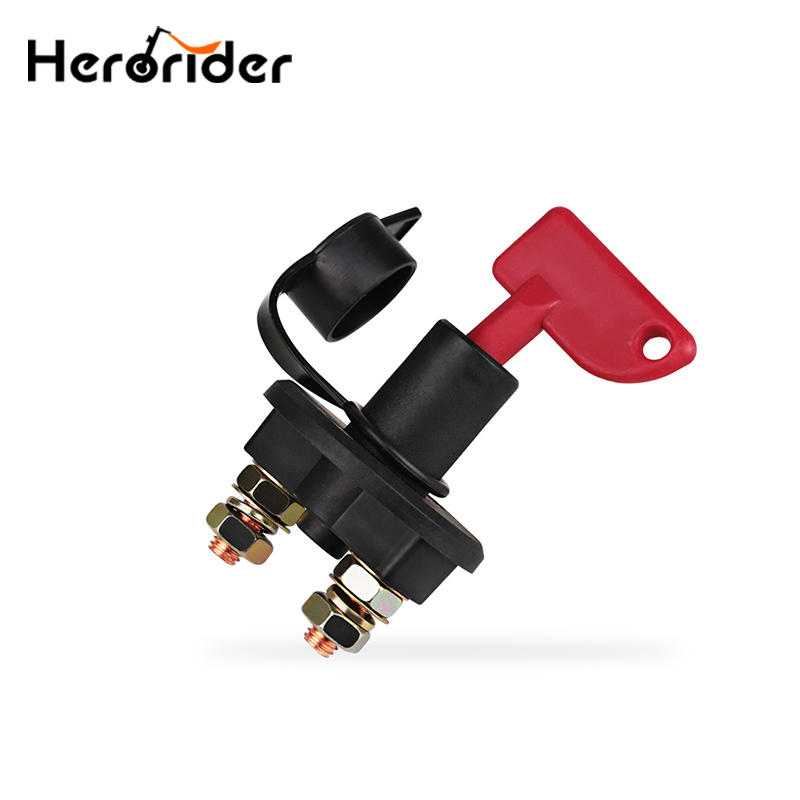 Truck Boat Car Battery Disconnect Switch Power Isolator Cut Off Kill Switch + 2 Removable Keys For Marine Auto ATV Vehicles Car
