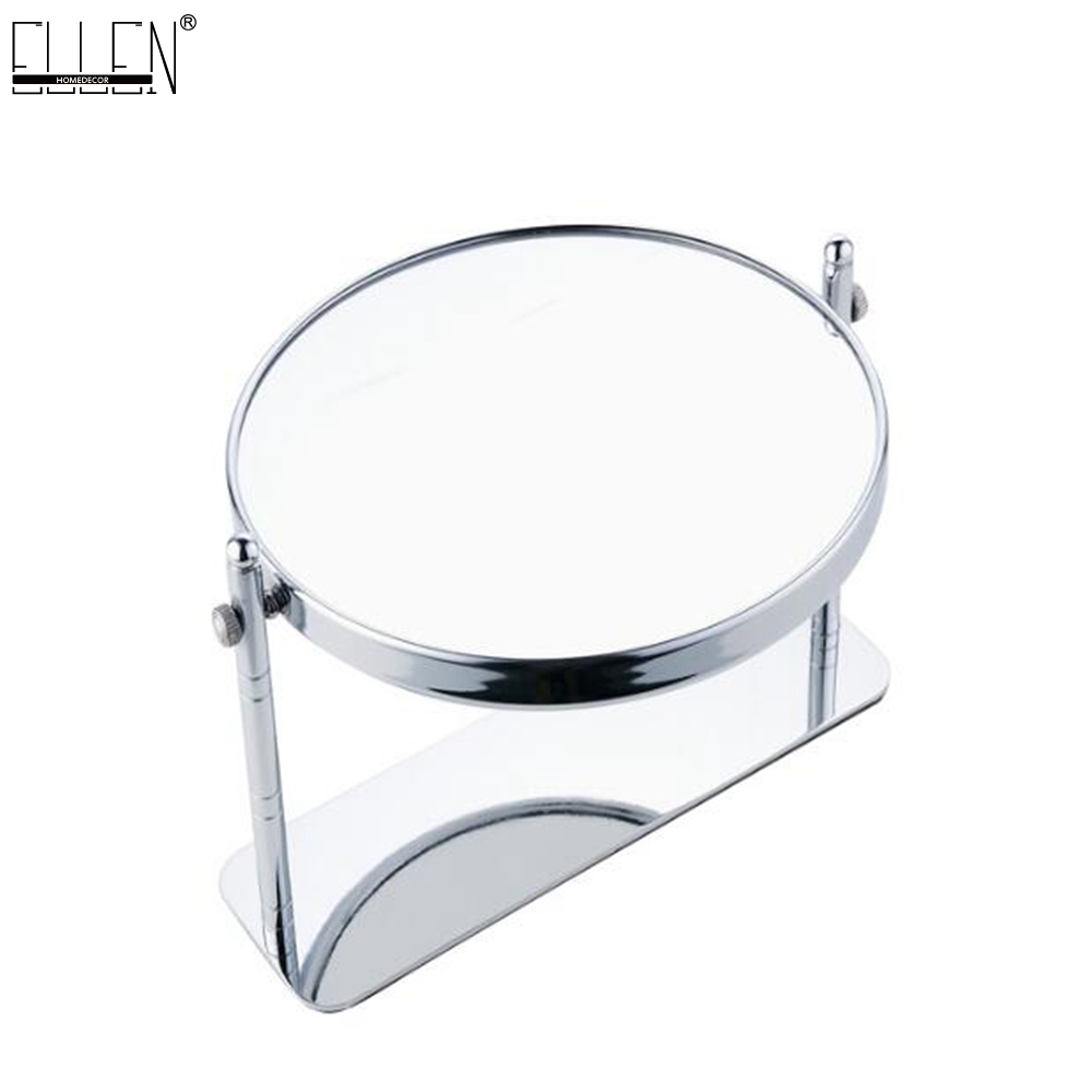 Standing Bathroom Mirror 8 dual Makeup mirror 1:1 and 1:3 magnifier Copper Cosmetic Bathroom Double Faced Bath Mirror