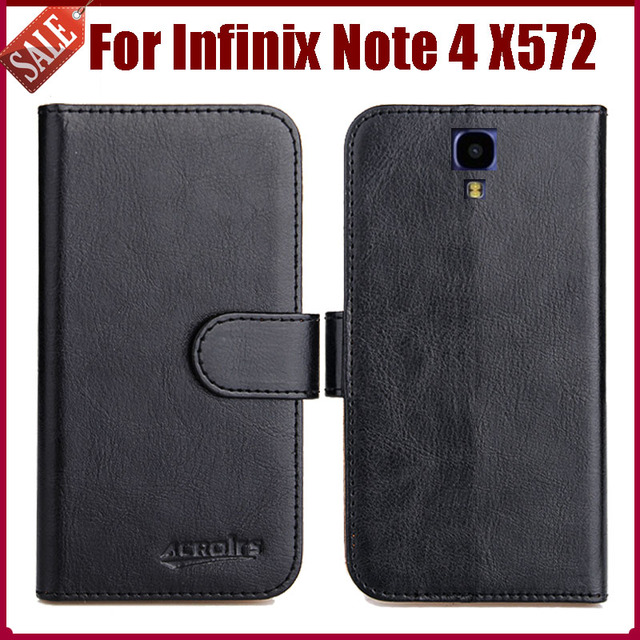 US $4 59 8% OFF|Hot Sale! Infinix Note 4 X572 Case New Arrival 6 Colors  High Quality Flip Leather Protective Cover Phone Bag-in Flip Cases from