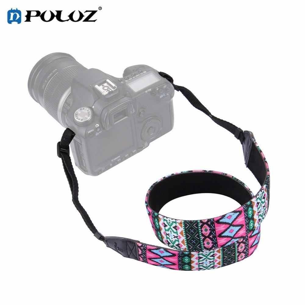PULUZ Retro Ethnic Style Multi-color Series Shoulder Neck Strap Camera Strap Colorful Pattern belt for SLR DSLR For Nikon Canon