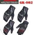 2015 KOMINE GK-802 PROTECT W-GLOVES-HANNIBAL Full Finger motorbike/motorcycle gloves Moto racing gloves of leather/carbon fiber