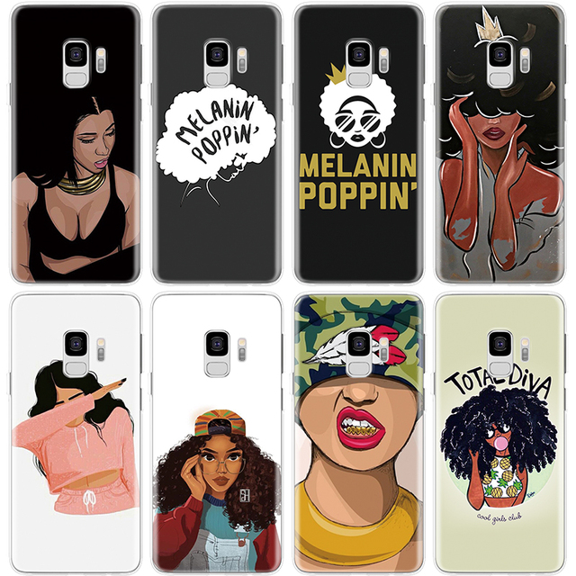 US $1 29 15% OFF Melanin Poppin Fashion Aba Black Girl For Samsung Galaxy  Xcover 4 S8 S9 Plus Grand Core Prime Neo Plus Cover For Samsung S8 Case-in