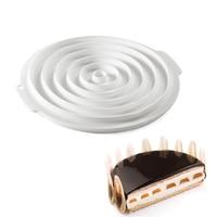 AMW Suprimentos de Cozinha Bakeware Molde de Silicone Bolo DIY Bolo Mousse de Cozimento Ferramentas de Cozimento de Silicone Molde Do Bolo Estilo Francês Pan