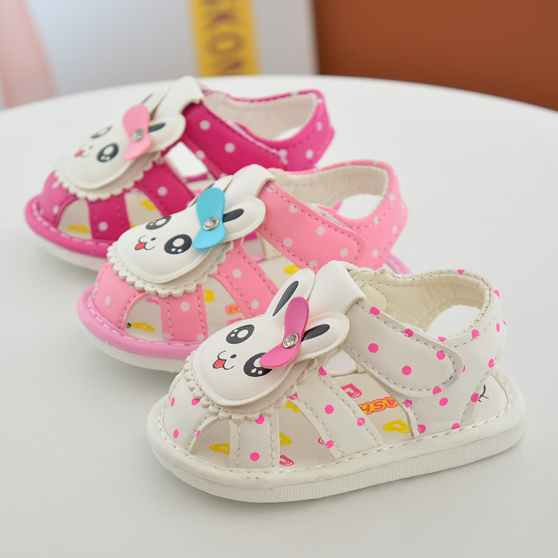 Aercourm A Summer Baby Toddler Shoes First Walkers 2018 Summer New Baby White Pink Red Soft Sandals Girl Bow PU Shoes