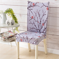 Spandex Stretch Big Elasticity Dining Chair Cover Restaurant Home Used Hotel Flower Design Chair Cover