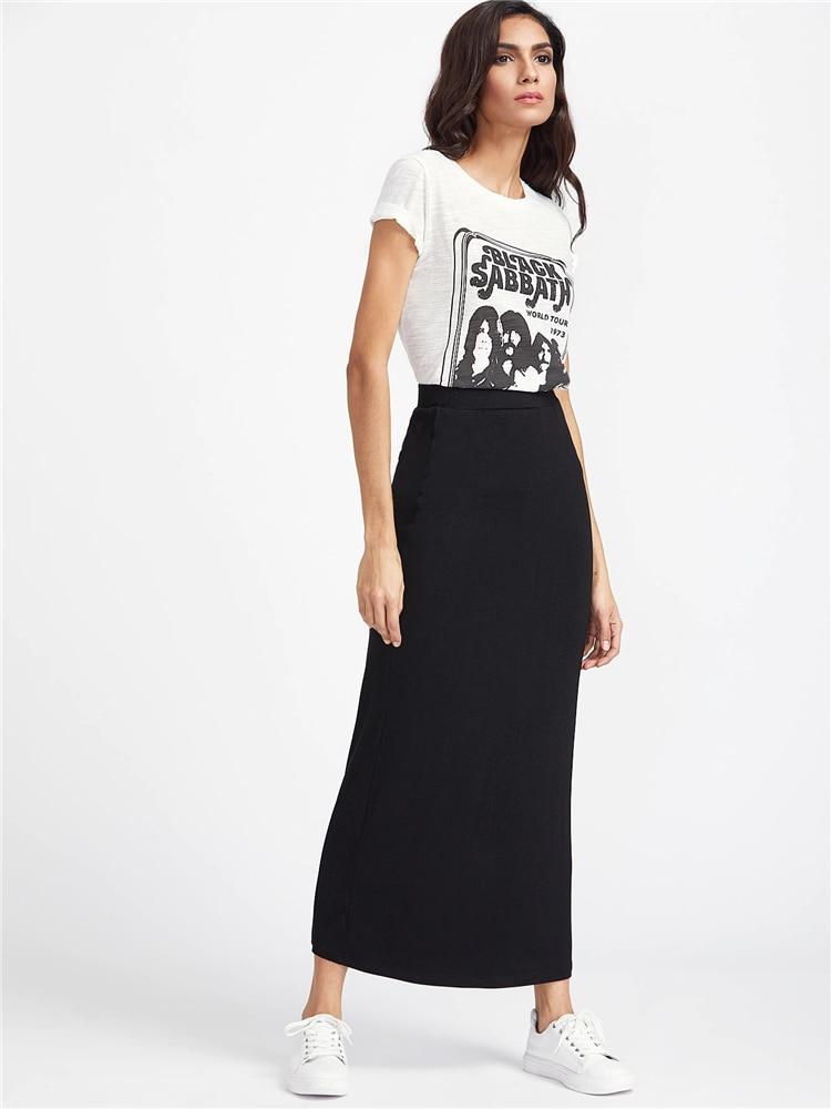 68ce7ee0e Venta de comprar falda negra larga brands and get free shipping ...