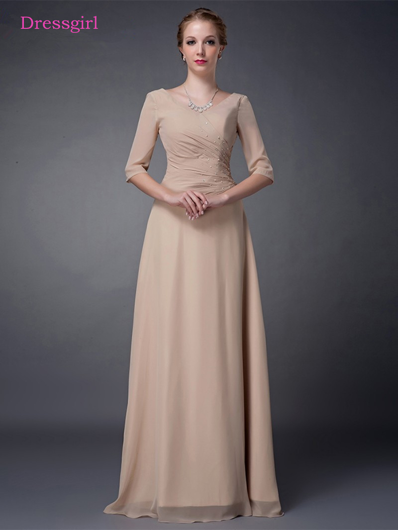 champagne 2019 mother of the bride dresses a line v neck