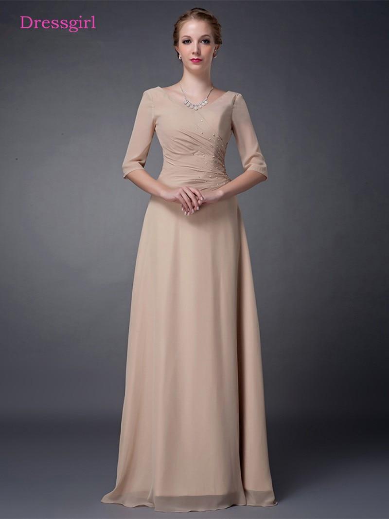 champagne 2019 mother of the bride dresses a line v neck