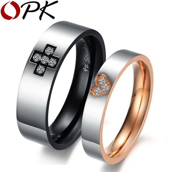 opk jewelry fashion men women rings stainless steel cute