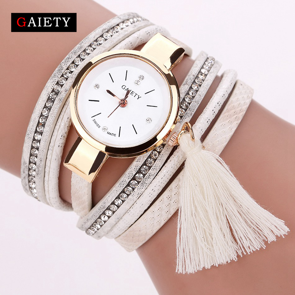 Duoya Fashion Tassels Pendant Women Bracelet Watch Luxury Lady Dress Quartz Watch Women Wristwatch Montre Femme Clock Relogio