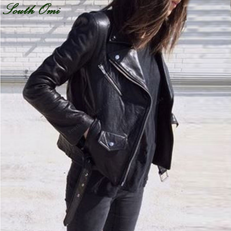 Online Get Cheap Leather Black Jacket Women -Aliexpress.com ...