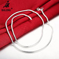 Women 3mm Silver Plated Snake Chain Necklace Men Bendy Flexible Snake Vertebrae Necklace Fashion  Couple Necklace Jewelry