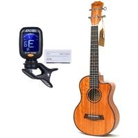 23 inch Ukulele Mahogany 4 String Ukelele Hawai Guitars Music Instrument Electric Guitar with Pickup EQ guitalele