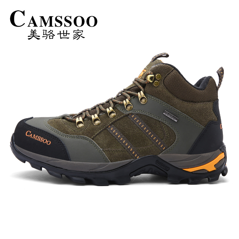 CAMSSOO Men's Winter Outdoor Hiking Trekking Boots Shoes For Men Leather Wearable Climbing Mountain Boots Shoes Man Outventure famous brand men s winter outdoor hiking trekking boots shoes for men warm leather climbing mountain hunting boots man quality