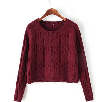Fashion Women's Autumn & Winter Sweater Long Sleeve O-neck Knitted Pullover Sweater Knitwear Wine Red,White,Black,Coffee,Yellow