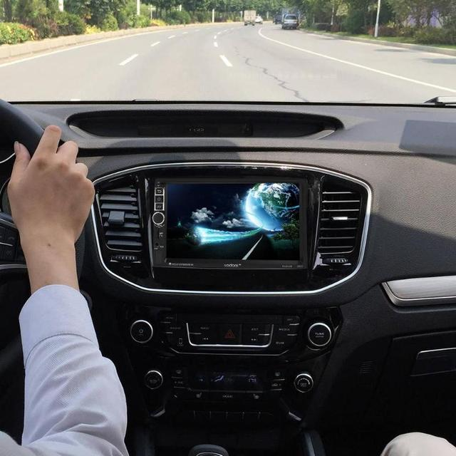 VODOOL 7in TFT Touch Screen Car MP4 MP5 Player 2 Din Quad-core Android 7.1 Bluetooth Car GPS Navigator 1080P MP5 Player