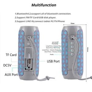 Image 4 - TG117 беспроводной Bluetooth портативный динамик стерео сабвуфер Колонка громкоговоритель + TF Встроенный микрофон бас FM MP3 звуковая бум коробка