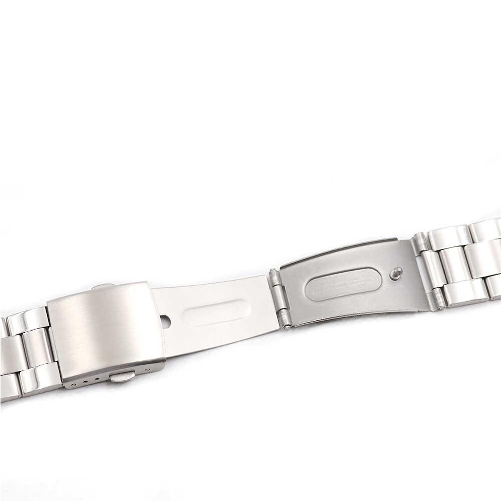 CARLYWET 22mm Prata Reta Final Parafuso Links Implantação Omega de Aço Inoxidável Relógio de Pulso Pulseira Para Rolex Tudor Panerai Tag