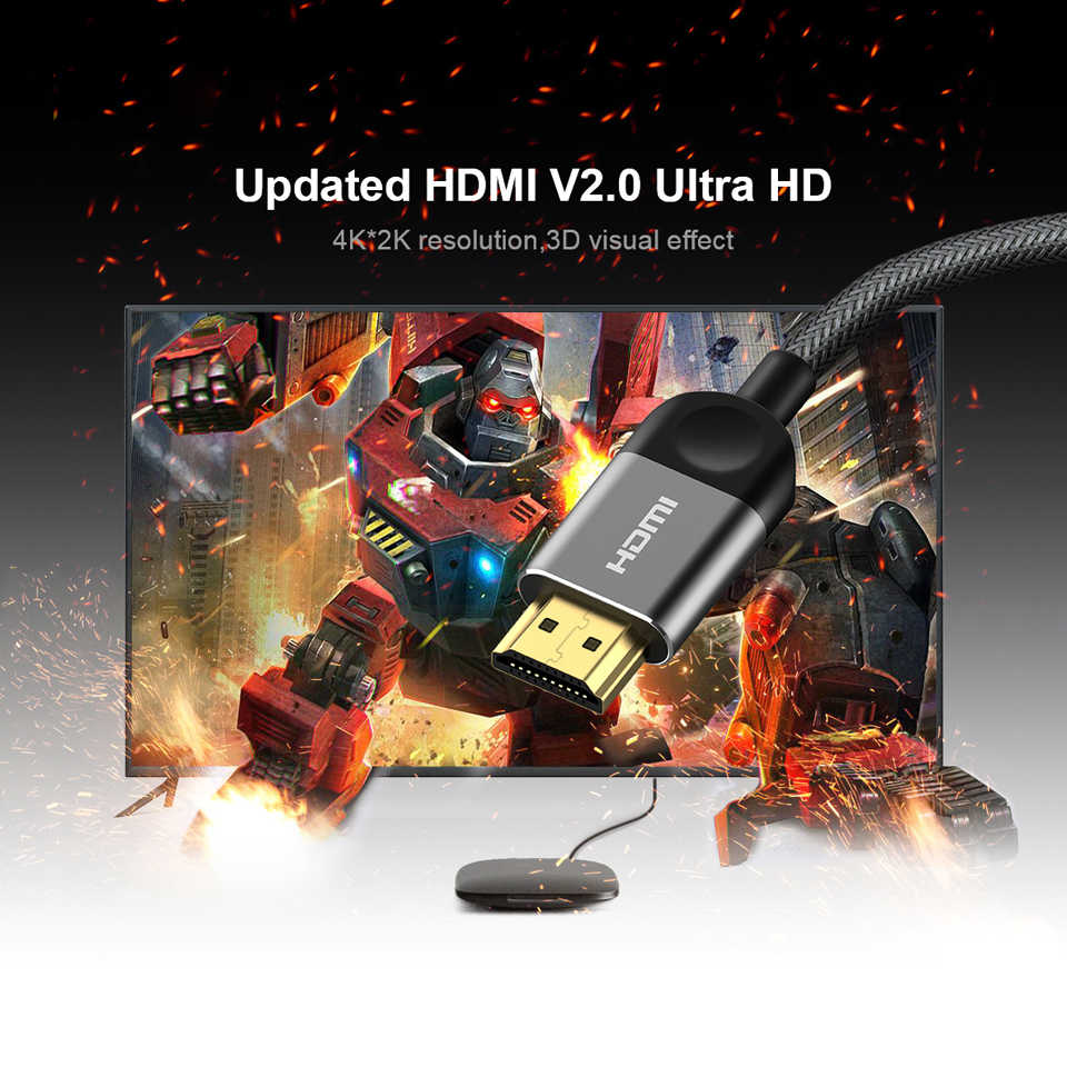 QGEEM HDMI кабель HDMI в HDMI 2,0 кабель 4K для проектора Xiaomi, Zend переключатель PS4 TV TVBox xbox 360 1 м 2 м 5 м кабель HDMI