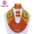 Boda nigeriano Beads Africanos Joyería Establece Indio Conjunto de Collar Nupcial 2016 Caliente AJS158 Granos Cristalinos de La Joyería Del Envío Libre