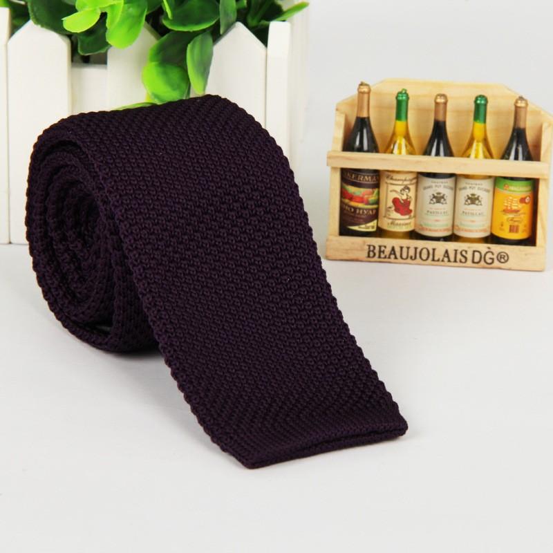 HTB1NfOPLpXXXXbWXVXXq6xXFXXXy - Vintage Style Plain Color Knitted Ties