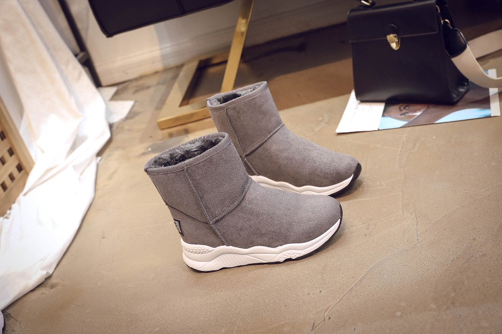 Winter Snow Boots Women Casual Shoes Slip On Warm Plush Women Ankle Boots Flat Heel Sport Ladies Shoes Booties Botas Mujer XZ82 (22)