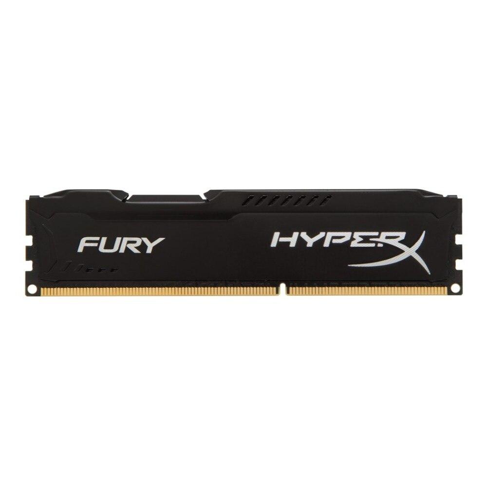 HyperX FURY Noir 8 GB 1600 MHz DDR3, 8 GB, 1x8 GB, DDR3, 1600 MHz, 240-pin DIMM, Noir