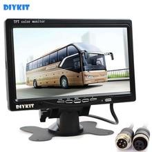 DIYKIT 4PIN Conector de 7 Polegada TFT LCD Monitor Do Carro Rear View Monitor com 2 Entrada de Vídeo