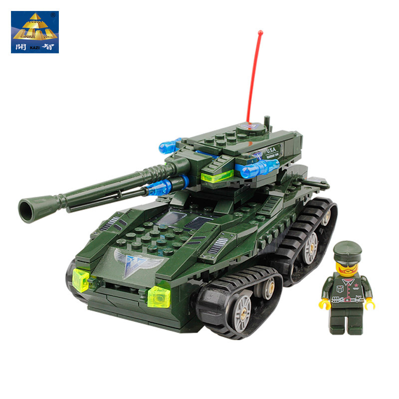 KAZI 81005 building blocks of Guardian tank for DIY toys for children holiday gift for kids Birthday Gift