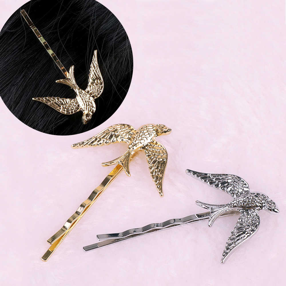 Cute Swallow Bird Hair Pin Barrettes Alloy Animal Hair Clip Women Headdress Accessories Sweet Girl Gifts Hair Accessories