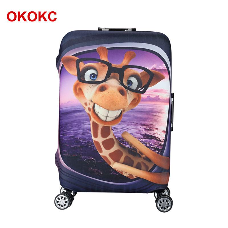 OKOKC cizgi filmi zürafə naxışlı elastik çamadan örtüyü 19 - Səyahət aksesuarları - Fotoqrafiya 2
