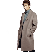 New Style Korean Winter Men's Leisure Fashion Business Thickening Trench Coat Men Wool Jackets male single Breasted jacket Coats