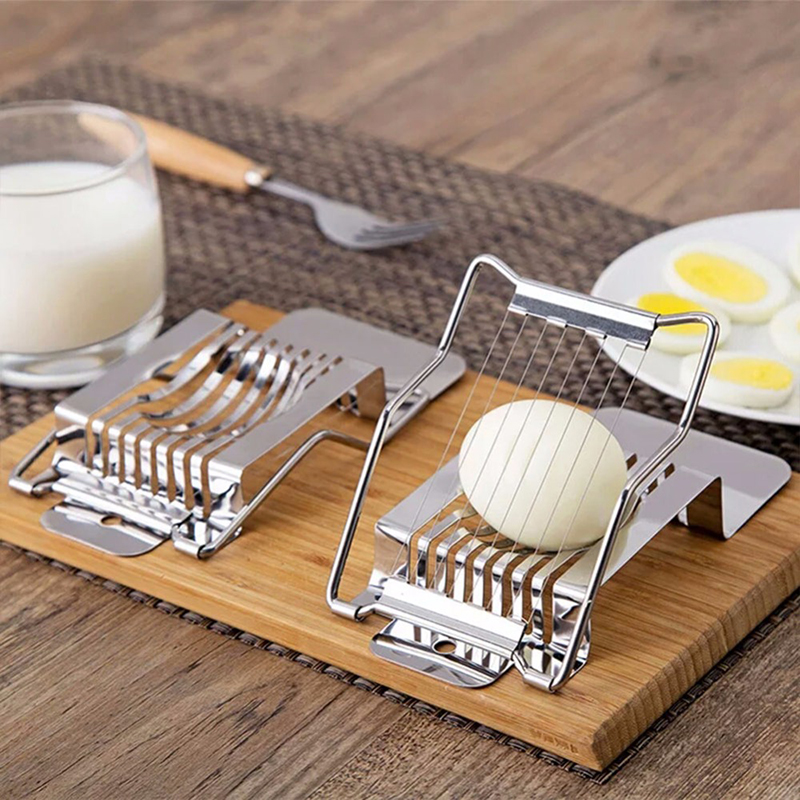 Stainless Steel Boiled Egg Slicer Section Cutter