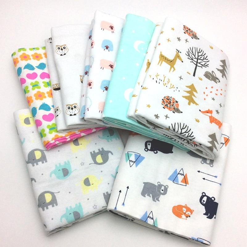 2Pcs/lot 76x76cm 100% Cotton Flannel Baby Blanket Newborn  Super Soft Cartoon Blankets  Baby  Receiving Blankets Swaddle