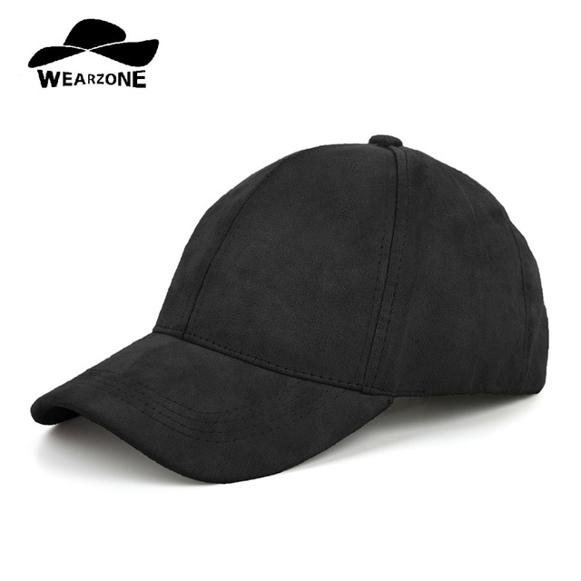 24385f71641 WEARZONE Unisex Faux Suede Baseball Cap Soft Adjustable Solid Dad Hats  Sports Hat for Women