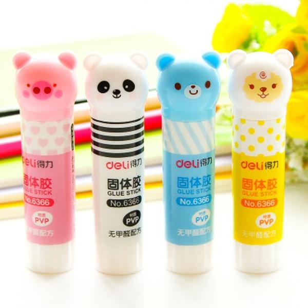 1 Pcs Cute Cartoon Solid Plastic Glue Stick High Viscosity Glue Stick For Children Office Stationery Supplies