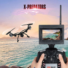 5.8G FPV Profesional RC Drone 510G 2.4G 6 axis 4ch Tinggi Kunci fungsi Real-time RC Quadcopter dengan kamera 2.0MP 720 P HD vs Q333