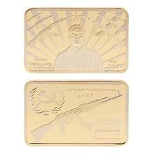 Памятная монета Tacticle AK 47 Золотая квадратная коллекция художественные подарки сувенир